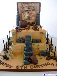 Indiana Jones cake! I will not complain if this is my next birthday cake!!