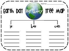 Free! Earth Day map for is, has, and can!