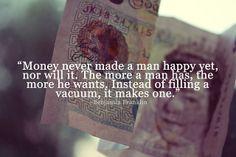 Geld ist nicht alles.