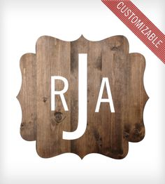 Custom Wood Monogram Plaque
