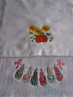 embroid hand, hand towel