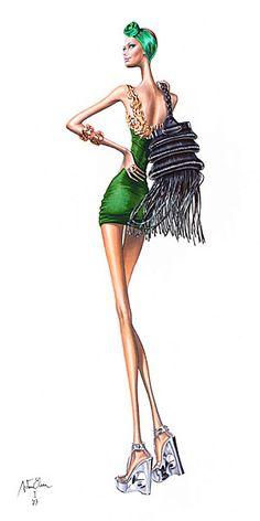 Elena Arturo, fashion illustration