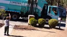 Awesome Garbage Truck Man Makes Autistic Boy's Day (VIDEO)