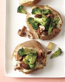 Loaded, slow cooker baked potatoes.