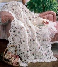 Rosebud Crochet Afghan Pattern ePattern - Leisure Arts