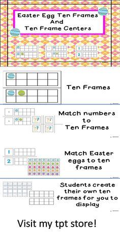 ten frames and ten frame centers