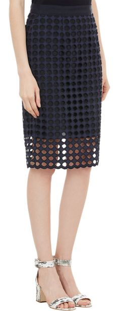 Sea Circular Eyelet Pencil Skirt at Barneys.com