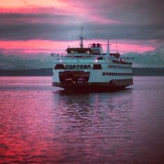 Washington State has the biggest ferry system in the US. One of the most beautiful things about the Northwest.