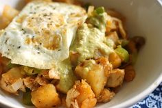 Green Chile and chicken hash