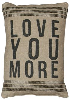 Rustic Love You More (D) Accent Throw Pillow | POSH365INC