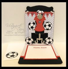 Love this Soccer Coach outfit for the Stampin' Up! Pop 'n Cuts Dress Form. stampersblog: UStamp with Dawn and Friends Big Shot Roundup Project 1
