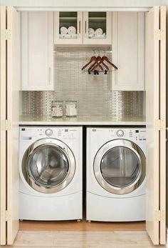 Compact laundry closet