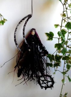The Morrigan, Celtic Goddess,Pagan Wiccan  Handcrafted figure.. £12.95, via Etsy.