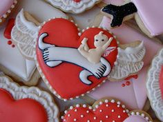 Love the angel and winged heart