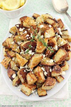 Lemon & Feta Roasted Potatoes