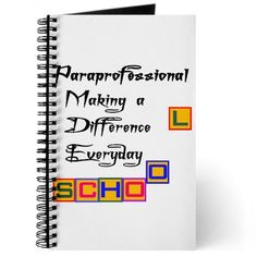 Paraprofessionals Making A Difference Everyday Journal x6