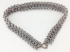 Chainmaille choker necklace stainless steel by twistedlinksjewelry