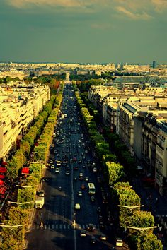 view from Arc de Triomphe, Paris, France