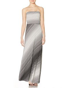 Gradiated Stripes Strapless Maxi Dress | Women's Dresses | THE LIMITED