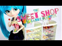 ▶ How to Make a Doll Sweet Shop Candy Counter - YouTube