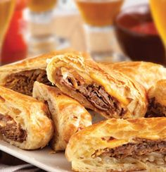 Philly Cheesesteak Rolls: These upscale cheesesteak sandwiches feature flaky puff pastry instead of ordinary rolls. They're easy to make, and even easier to enjoy!
