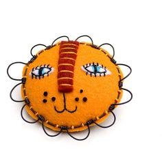 felt lion face