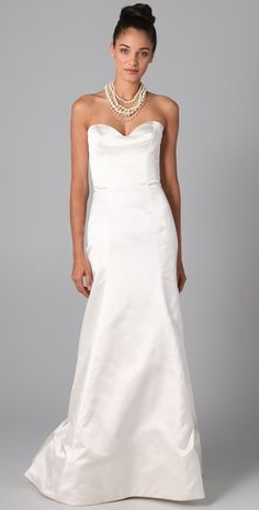 Reem Acra Special Strapless Gown- simple. I like.