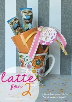 A Latte for Two! {plus Free Printable hand drawn gift tags}