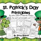 Only $2.50!  This packet contains no prep printables for St. Patrick's Day.    Included:  What is St. Patrick's Day Mini-Book  Three Presidential Editing Pages ...