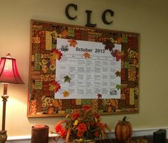 October board - table cloth used for background