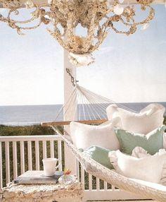 beach cottages, dream, the ocean, beach houses, beachhous, beach time, place, hammock, porch