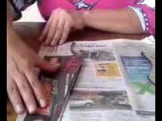 Jarrones de cartón - YouTube