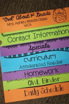 Parent Flip Book - Cute Idea #tweet classroom, parent handbook, idea, parents, back to school letter, flip books, teacher, handbook flip, first grade back school books
