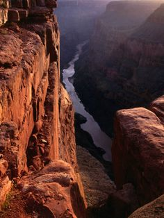 The Colorado River at Sunrise from the Toroweep Lookout, Grand Canyon National Park, Arizona