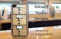 Library Card Catalog iPhone 5 case on Etsy, $16.99