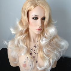 Very special color called FGT. A delight. Truly stunning. Look at our website www.newattitudewigs.com. Golden #blonde with platinum tips. | ...