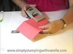 cardmaking video tutorial ... Dividing Screen Card ... quick and simple to follow basics ...