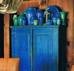 Blue and Green American Pottery