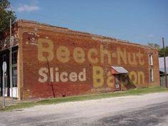 Beech-Nut sliced bacon ghost sign