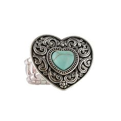 Shyanne® Women's Heart Elastic Ring  #jewelry #ring #heart #valentinesday