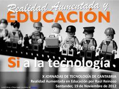 Realidad aumentada, Educación y Tecnología van de la mano. #RAyTe #RAyEd