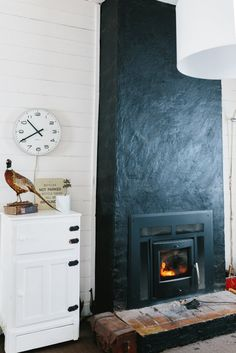 Black chimney, Marnie & Ryan's Vintage Treasures Country House -- House Tour