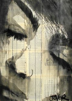 "Saatchi Online Artist: Loui Jover; Pen and Ink, 2013, Drawing ""feel"""