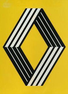 Victor Vasarely. Logo de Renault, 1972