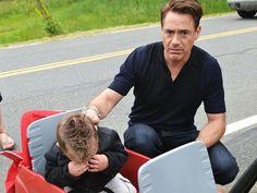 Little Boy Learns That He'll Meet Iron Man, Cries When He Meets Robert Downey, Jr. Instead - Neatorama