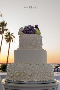 Wedding cakes     White wedding cakes     Purple and green weddings     Aislinn Kate Photography