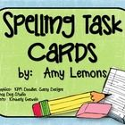 Print the cards out, laminate, and put them into a spelling center!  This is a fast, easy way to manage your spelling centers :)  Task cards are in...