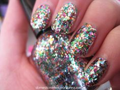 Glitter bomb nails - Milani Jewel FX Gems