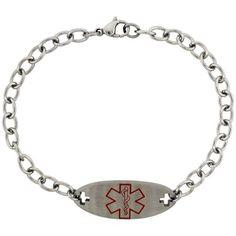 Surgical Steel Medical Alert Bracelet...