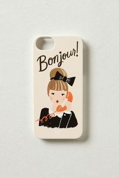 bonjour! iPhone 5 case cute!